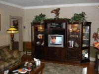 This large Majestic Entertainment Center is ideal for