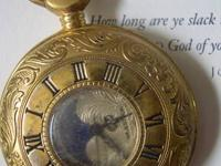Mens Vintage style Majestron Pocket watch. Features a