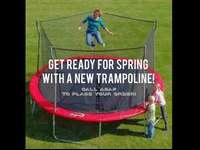 Get a great trampoline for an amazing deal! Our