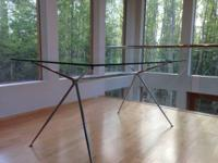 Moving. Make an offer:  Glass dining table: Paid $700 +