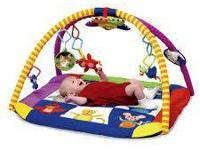The colorful Baby Einstein Play Gym introduces baby to
