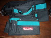 This is a heavy-duty carpenter's tool belt by Makita.
