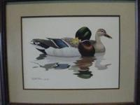 THIS IS A BEAUTIFUL FRAMED & MATTED MALLARD PRINT OF 2
