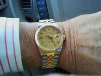 This man's stainless and gold ( the real stuff ) Rolex