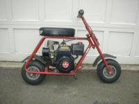 Vintage Manco Streaker minibike model 580-11 powered by