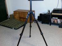 Rarely used professional series tripod with pistol grip