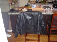 VERY CLASSEY MANS BLACK LEATHER COAT.GREAT CONDITION.SZ