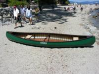 Mansfield 13 foot fiberglass and wood canoe -- was made
