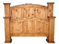 Mansion Rustic Bed * Made of solid pine. * Features