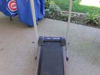 I have for sale a manual treadmill. It is not a motor