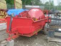cobie manure spreader, new steel sides, steel floor,