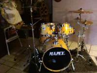 MAPEX 5 PIECE KIT WITH YAMAHA STAGE CUSTOM TOM ALL