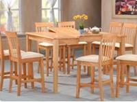 Maple 8 PC Counter Height Dining Room Set  Maple Wood