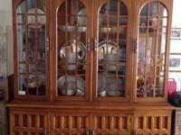 "This China Cabinet is 2 pieces:  TOP is: 4' 2"" height"