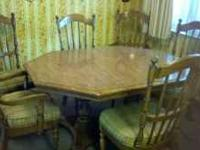 Dining table, originally purchased in late 1970s,