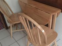 Classic Maple, portable kitchen table that folds and