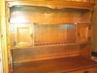 Nice maple hutch/buffet that would look great in your
