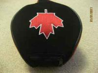 Red Maple Leaf Logo driver or fairway wood headcover.