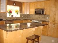 MAPLE KITCHEN CABINETS 17ft X 10ft -3ft X 6ft Island
