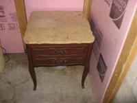 marble end table or night stand for sale. If interested