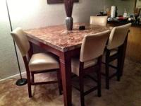 Marble high top table - $900 or best offer, cash or