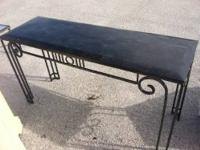 """Marble Look 5'W Console Table $99 29""""H x 56""""W x 13""""D"""