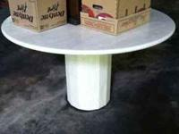Gorgeous solid marble table from Elan $500  call or