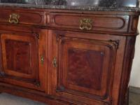 Selling ensuite or separately Walnut Marble Top Commode