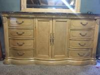 Beautiful Marble top dresser for sale.Comes with large