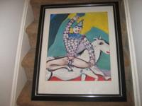 Marc Chagall , Clown on a White Horse , Framed & Ready