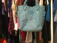Authentic marc jacobs small tate tote Light blue color