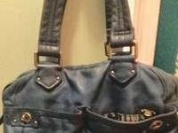 Blue genuine real leather vintage Marc Jacobs purse