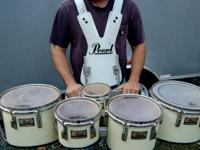 This is for a used Pearl Percussion marching band kit