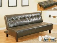 Marco espresso chocolate futon/ sofa bed. Atlantic