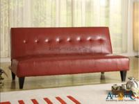 Marco red futon/ sofa bed. Atlantic Bedding and