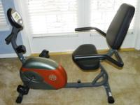 The Marcy exercise bike is a step-through exercise bike