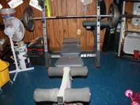marcy weight bench with 550 lbs of weight 400 bucks or