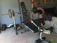 I have a complete Marcy weight bench with Olympic