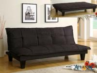 Basic black futon, video gaming sofa. Atlantic Bedding