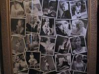Very Nice Marilyn Monroe Candid Collage.3.5x2.5. Gold