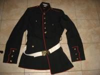 The dress uniform is missing two buttons, but otherwise