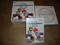 Mario Cart Wii game, great shape, complete Two Wii