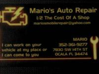 I CAN TAKE CARE OF YOUR AUTOMOTIVE NEEDS AT 1/2 THE