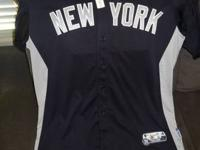 For sale is a Game Used jersey used by New York Yankee