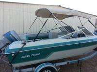 Mark Twain 16' open bow runabout for $3600 with