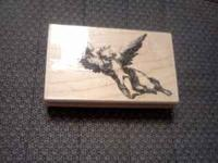 Angel rubber stamp by Marks of Distinction mounted on