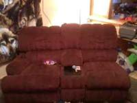I have a sectional it is maroon in color. 2 recliners