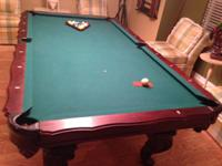 8 feet Marquis Craftsmaster Pool Table in excellent