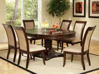 This Marseille dining room set comes with the table and