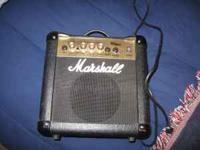 Marshall MG10CD guitar amp. Works great. $40. Local